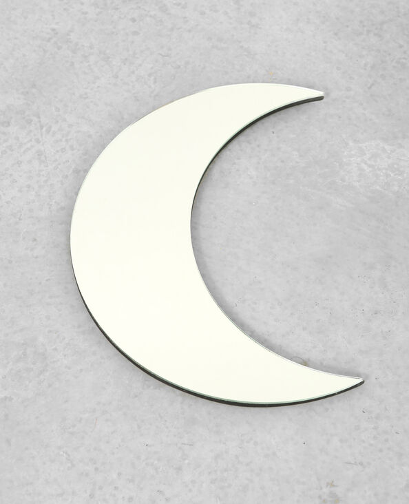 Halve maanvormige spiegel grijs