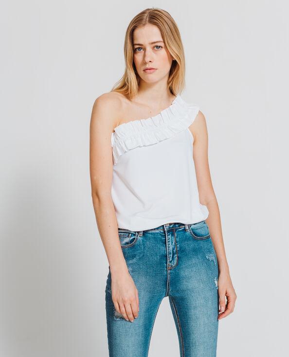 Asymmetrisch shirt wit