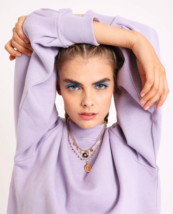 Sweater met pofmouwen violet