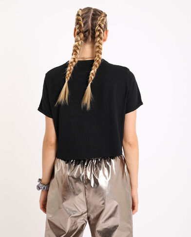 T-shirt court noir
