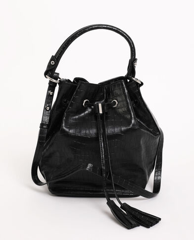 Bucket bag zwart