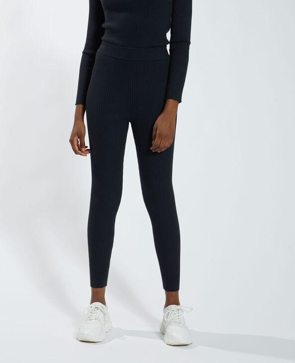 Geribde broek zwart - Pimkie