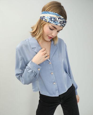 Satijnachtig hemd blauw