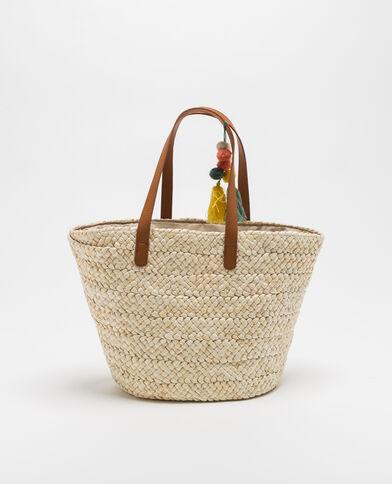 Shopper van stro beige