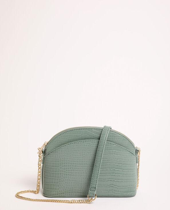 Handtas met halvemaanvorm groen