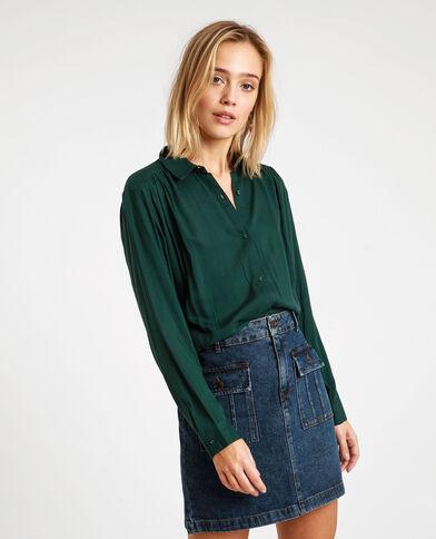 Soepelvallend hemd groen