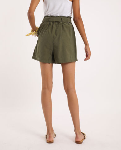 Short taille haute vert