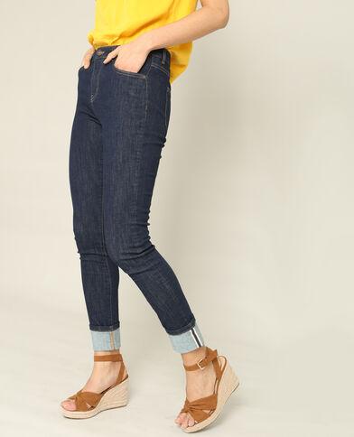 Slim fit jeans met middelhoge taille blauw