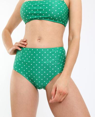 Bas de bikini taille haute vert
