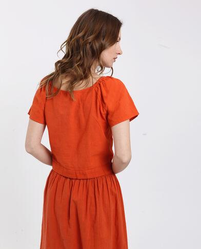 Chemisier court orange