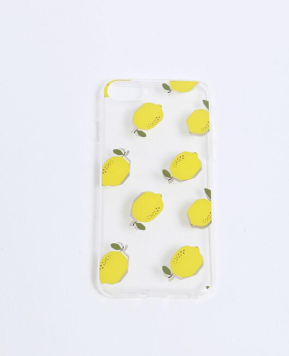 iPhone-hoesje met citroenprint geel