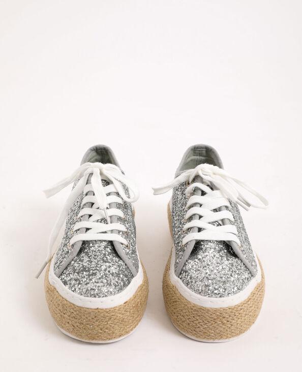 Gymschoenen met plateauzolen grijs