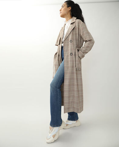 Trench long beige