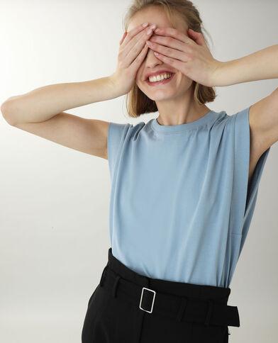 Mouwloos T-shirt blauw