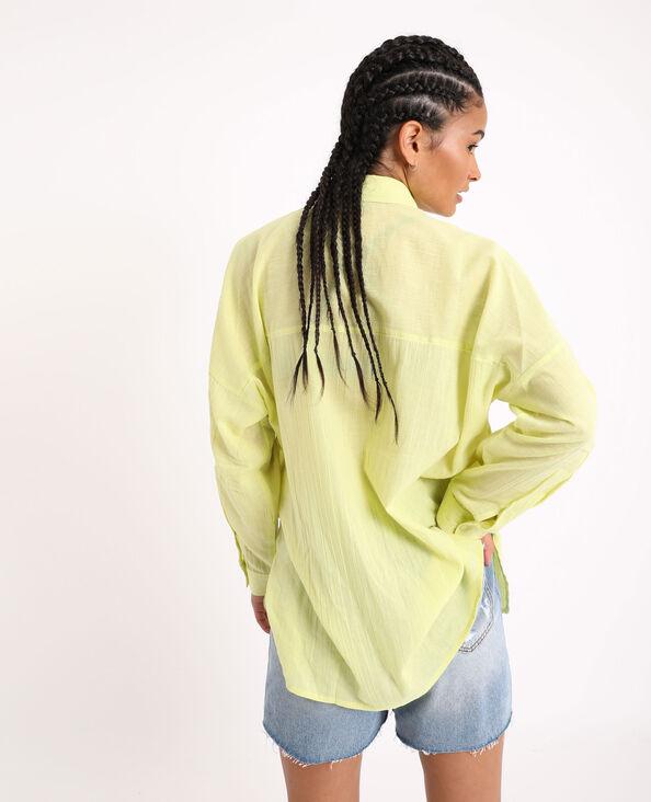 Chemise oversized jaune