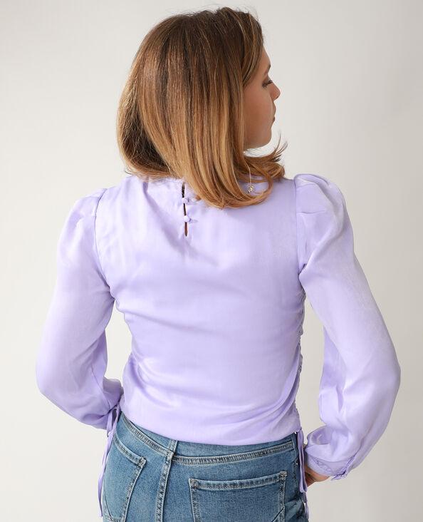 Satijnachtige blouse vioolpaars - Pimkie