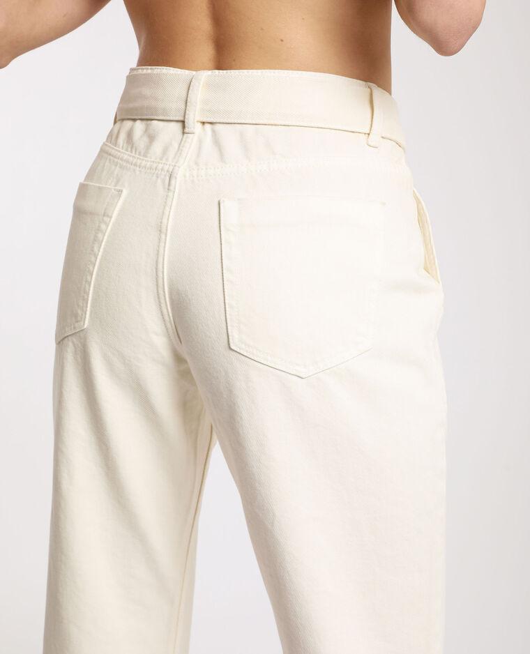 Pantalon droit à poches gris clair