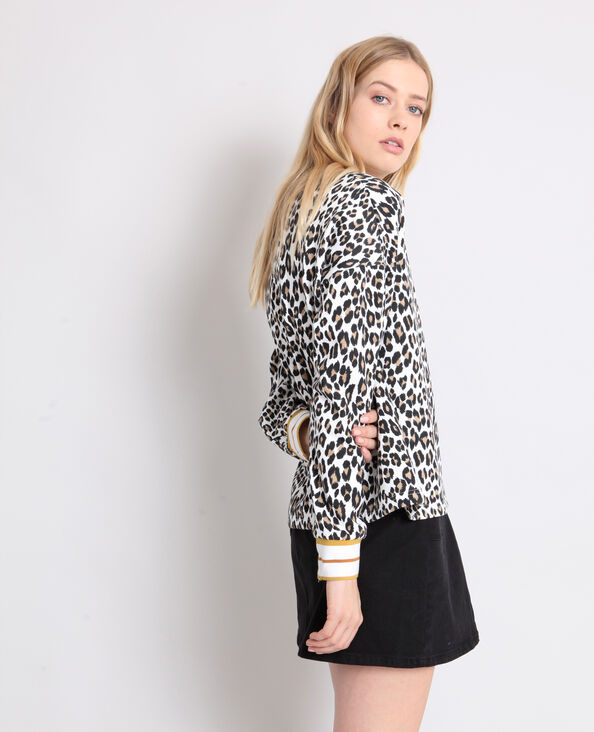 Sweater met luipaardprint geel