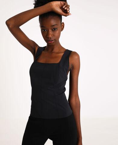 Top zippé noir