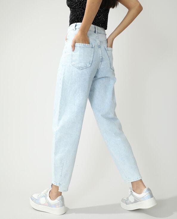 Slouchy jeans met hoge taille Lichtblauw - Pimkie