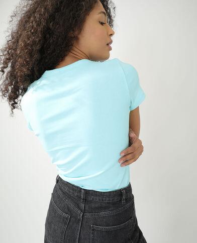 Basic T-shirt blauw - Pimkie