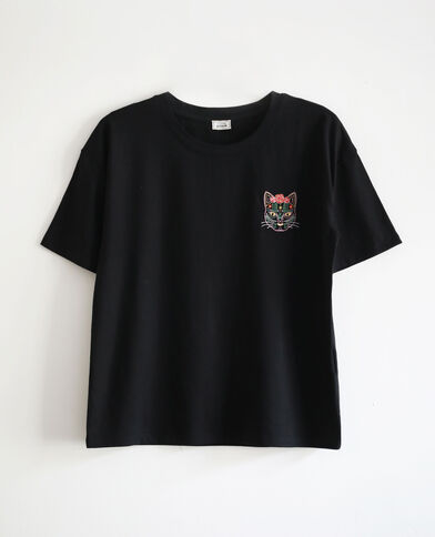 T-shirt chat noir