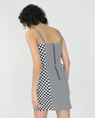 Robe damier noir - Pimkie