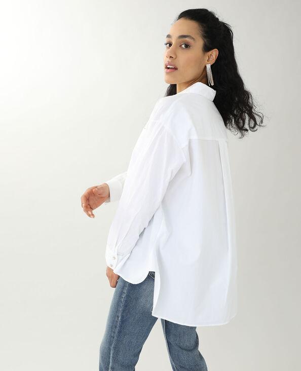 Chemise longue blanc - Pimkie
