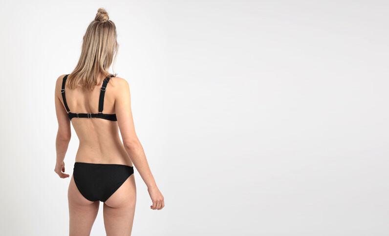 Effen bikinislip zwart