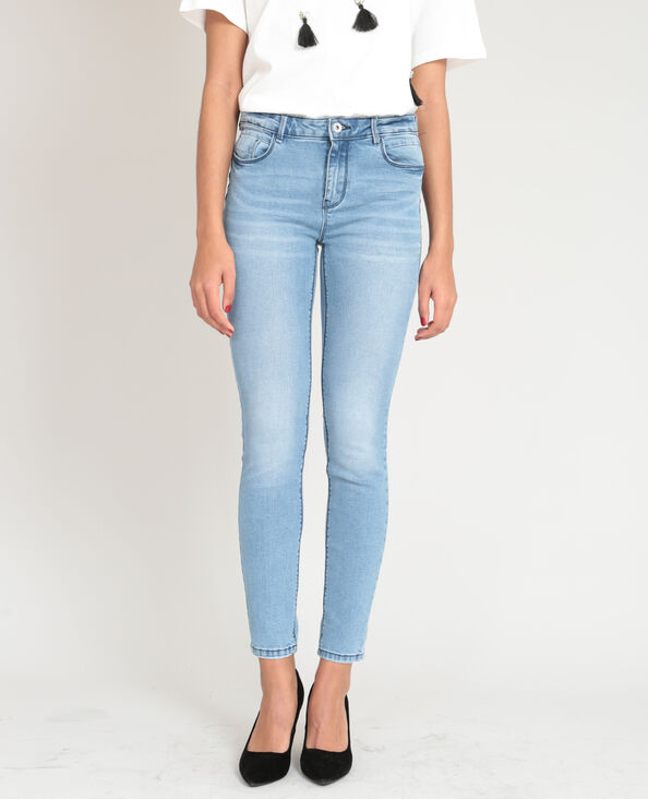 Jean push up bleu