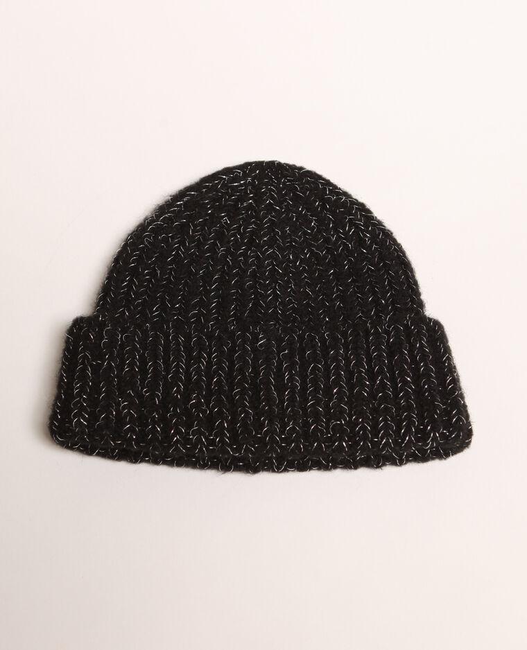 Bonnet à côtes noir