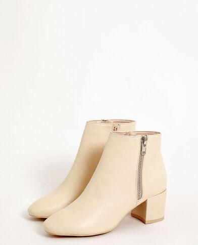 Vintage laarzen gebroken wit