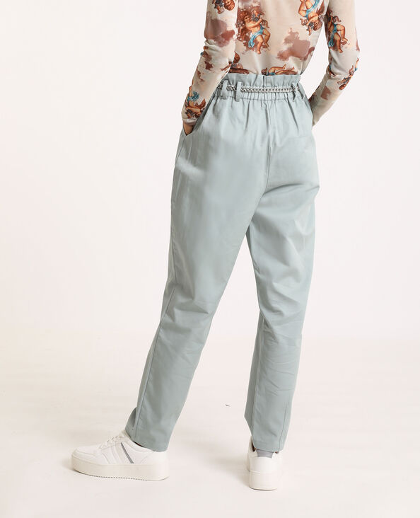 Pantalon city high waist gris