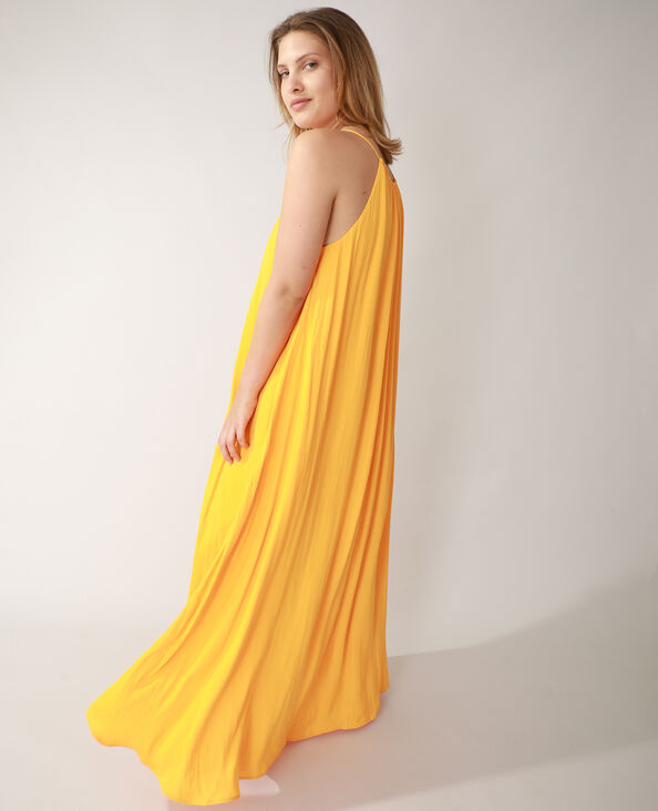 Lange jurk oranje - Pimkie