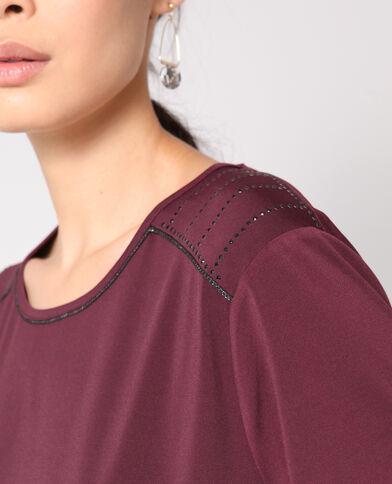 T-shirt à bijoux bordeaux