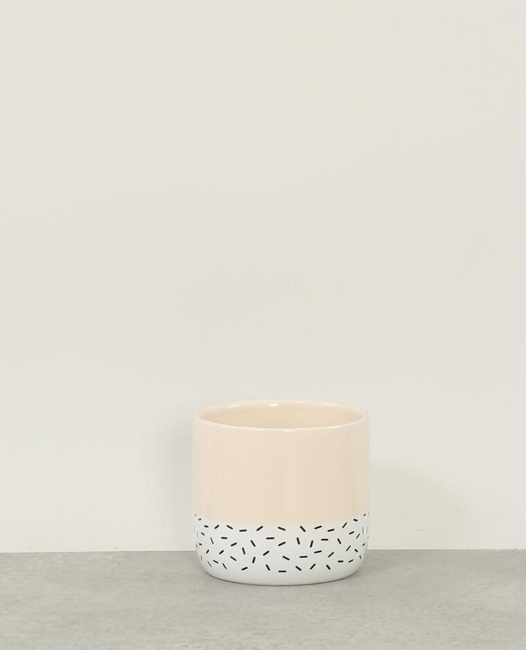Pot en céramique beige rosé