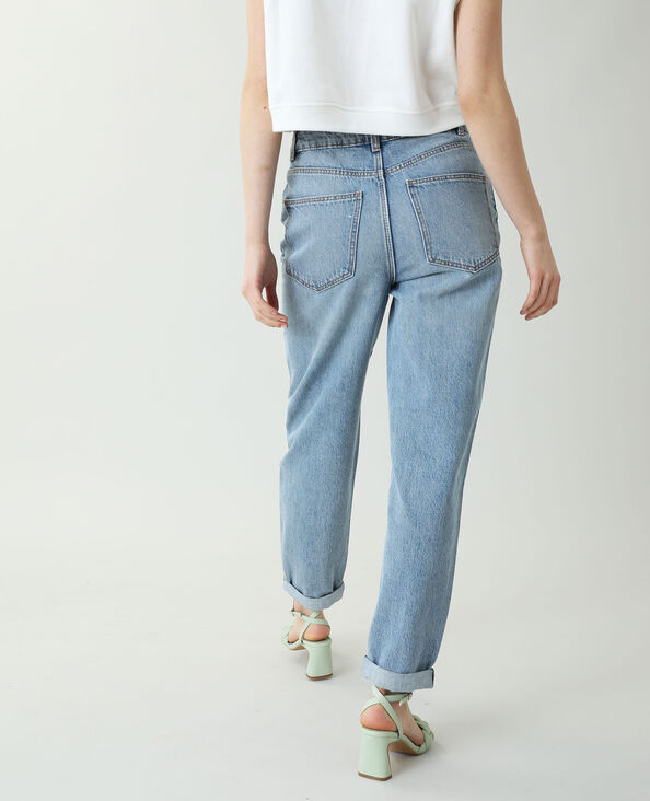 Jean mom bleu denim
