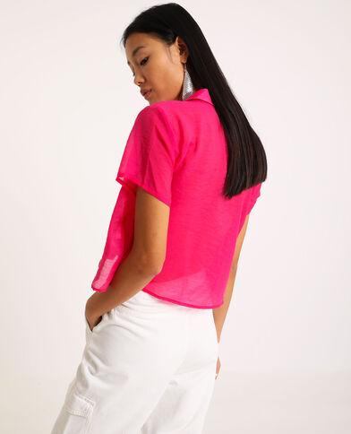 Hemd met korte mouwen roze