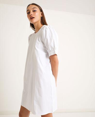 Robe à broderies blanc