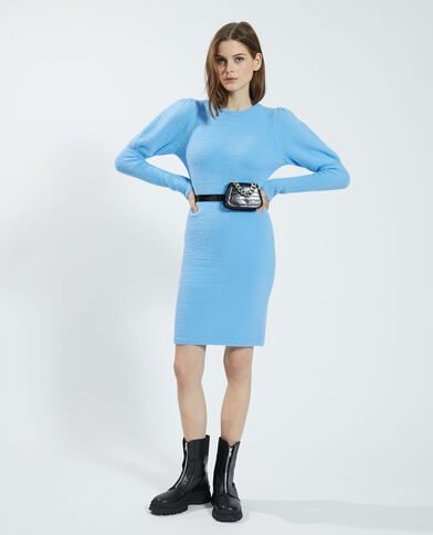 Zachte trui-jurk blauw - Pimkie