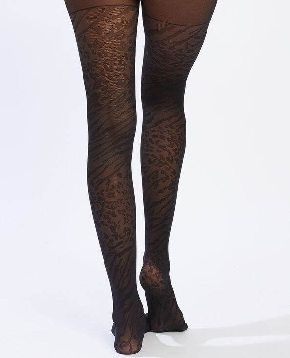 Panty met zebramotief zwart - Pimkie