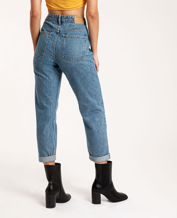 Jean mom high waist bleu denim
