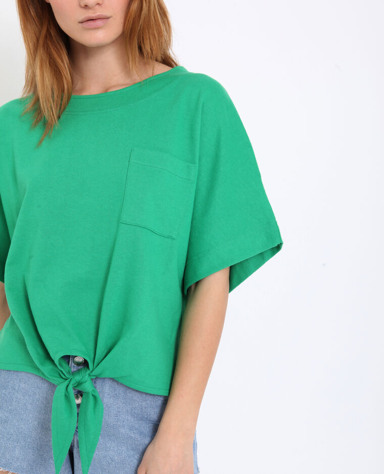 T-shirt à nouer vert