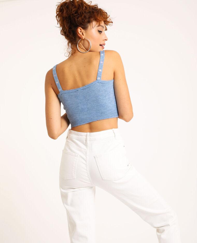 Behatop van tricot blauw - Pimkie
