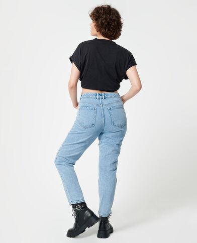 Jean taille haute bleu délavé - Pimkie