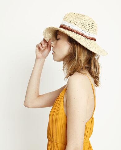 Chapeau de paille coloré beige