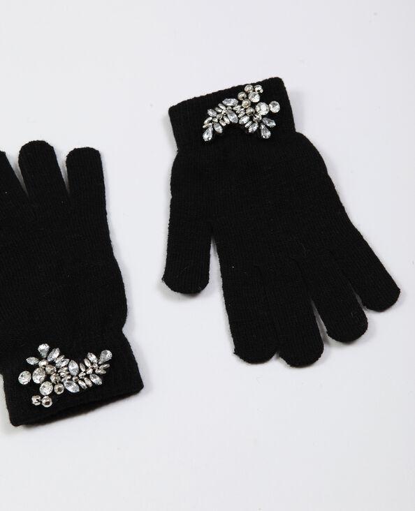 Gants à bijoux noir