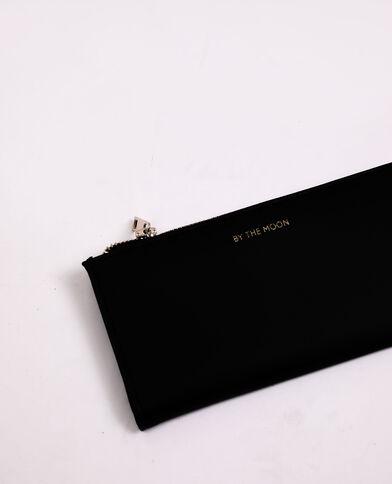Portefeuille en faux cuir noir