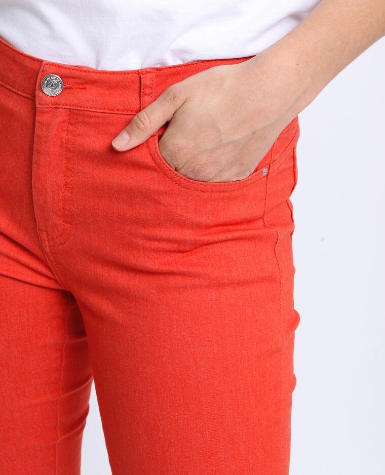 Push-up broek met middelhoge taille oranje