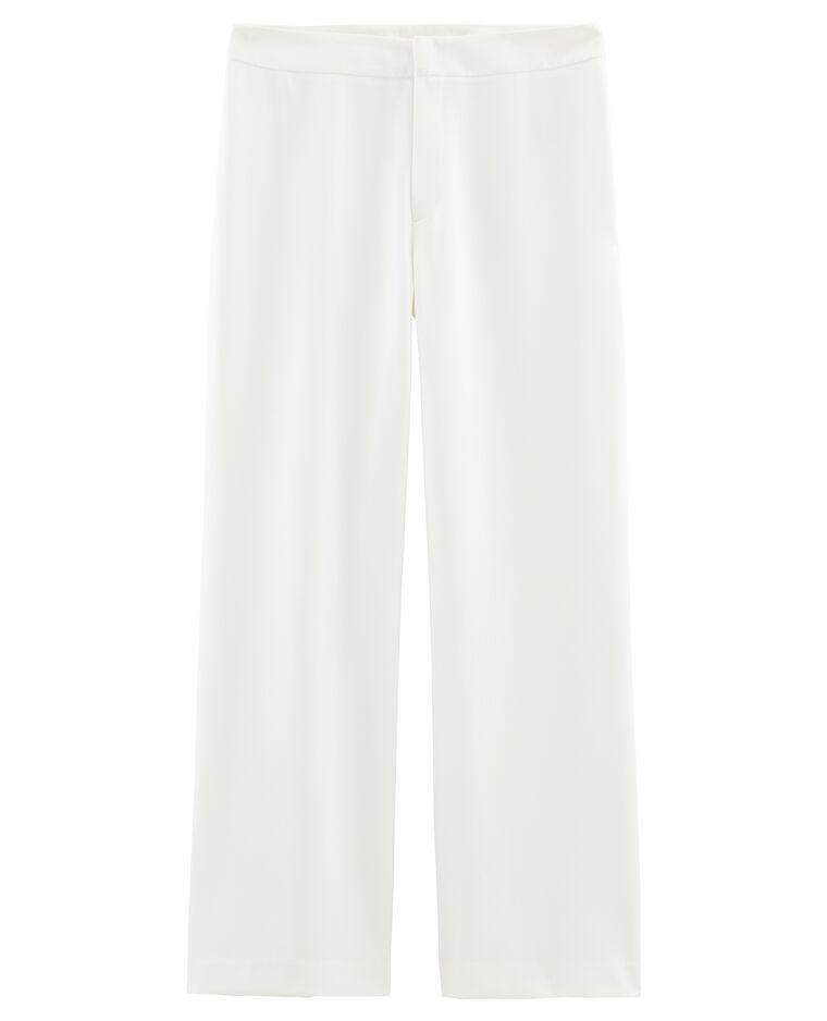 Pantalon fluide et large beige